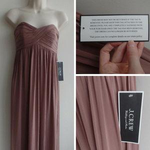 J. Crew Dresses - NWT J.CREW Eve Liquid Jersey Long Dress/Gown, sz 6